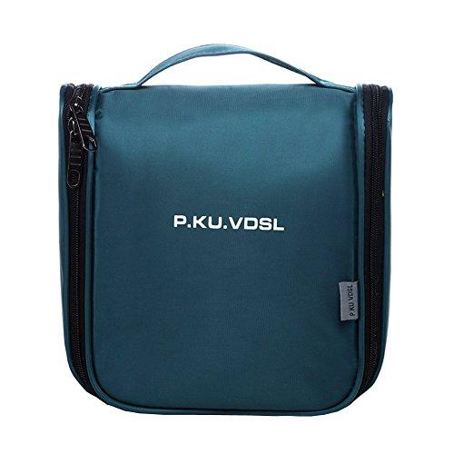 P.ku.vdsl appendere borsa da toilette beauty case da viaggio trucco di caso cosmetico portatile pratica borsa viaggi outdoor organizzatore viaggi kit viaggio (cielo blu)