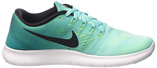 Nike Free Run 831509, Scarpe Running Donna Multicolore (Hyper Turq/Black-Rio Teal-Volt)