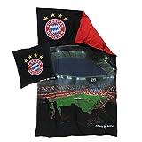 FC Bayern München Wendebettwäsche, Bettwäsche Allianz Arena Renforce FCB - Plus gratis Lesezeichen I Love München