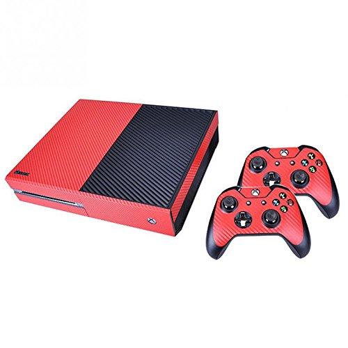 Carbon Fiber Design Sticker Decals per Xbox One box e controller - Rosso - Amazon Videogiochi