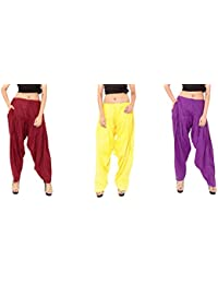 Rayon Patiala For Women Free Size Combo Pack Of 3 Patiyala Free Size - B077VVQDZG