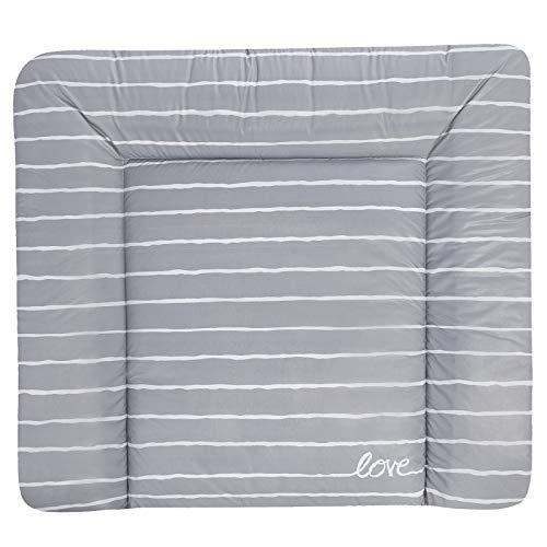 Julius Zöllner Wickelauflage Softy 75 x 85 (Grey Stripes)