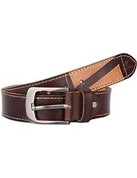 K London Men Casual Brown Beige Genuine Leather Belt