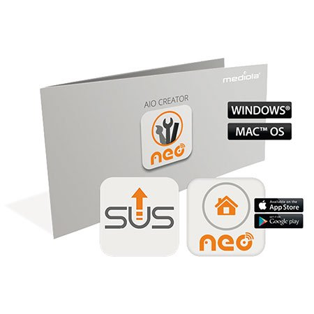 Preisvergleich Produktbild mediola AIO CREATOR NEO Plugin AIO Gateways SUM-4100-b (inkl. 12 Monate Subscription Update Service)