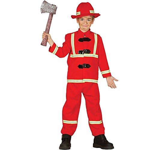 Feuerwehr Kostüm für Kinder Feuerwehrmann Feuerwehrkostüm Gr. 98 - 146, ()