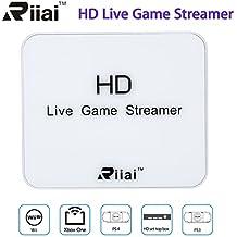 Uphig USB 2.0 HD 1080P Capturadora de juegos para Xbox Play Station PS4 PS3 Xbox Blu Ray DVD STB DV con 2 entrada HDMI