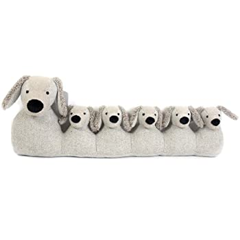 71Cm Grey Dog Draught Excluder ~ Door Draught Cushion: Amazon.co.uk ...