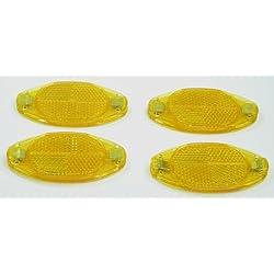 Speichenreflektoren gelb (orange) 4 Stück