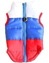 Gusspower Ropa de Perro a Prueba de Agua y cálido Chaleco de algodón para Mascotas Chaqueta de Invierno Traje de esquí al Aire Libre Adecuado para Perros pequeños