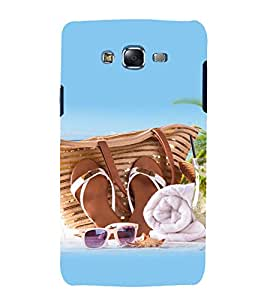 printtech Beach Slippers Cool Design Back Case Cover for Samsung Galaxy J1::Samsung Galaxy J1 J100F