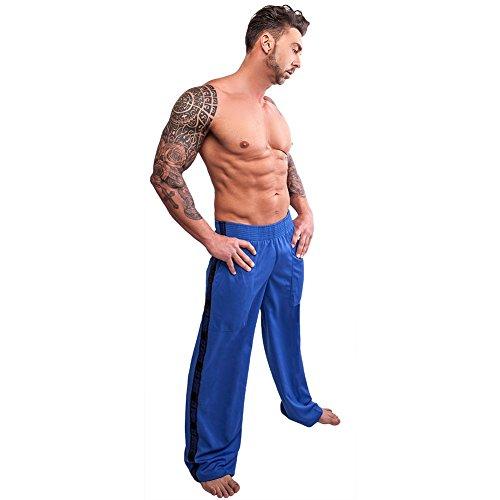 C. P. Sports S9 - Pantaloni sportivi, unisex, per fitness e bodybuilding, colore: blu blu