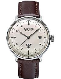 Junkers Herren-Armbanduhr XL Bauhaus Ronda515 Analog Quarz Leder 60465