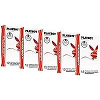 PLAYBOY CONDOMS Strawberry 5er Pack (5 x 12 Kondome) preisvergleich bei billige-tabletten.eu