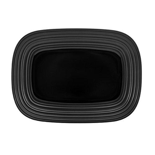Mikasa Swirl Black Square Rectangular Platter, 15-Inch by Mikasa Mikasa-swirl