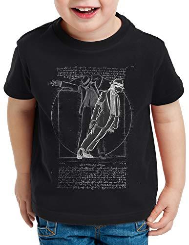 CottonCloud Vitruvianischer Pop King T-Shirt für Kinder da Vinci Michael Moonwalk, Farbe:Schwarz, Größe:152