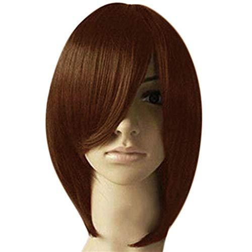 Ostergeschenk !!! Pondkoo Women \'S Sexy Teilweise Bobo Wave Kopf Hochtemperatursynthetische Menschenhaarperücke (25Cm)