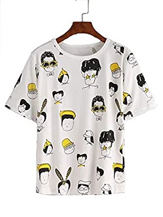 JUNEBERRY Regular Fit Printed Cotton Half Sleeve T-Shirt for Womens and Girls
