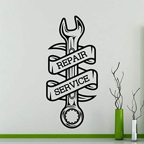 Officina Logo Auto Adesivi murali per Servizio di Riparazione Vinile Decalcomanie Impermeabile Car Interior Decoration Murale di Alta qualità Rosso 121X57cm