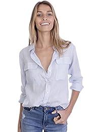 vendita calda online 74d43 74ea3 Celeste - Bluse e camicie / T-shirt, top e bluse ... - Amazon.it