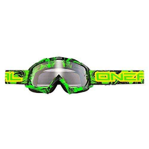 Mx Goggle Oneal 2015 B-Flex Hendrix Nero-Verde (Default , Nero)