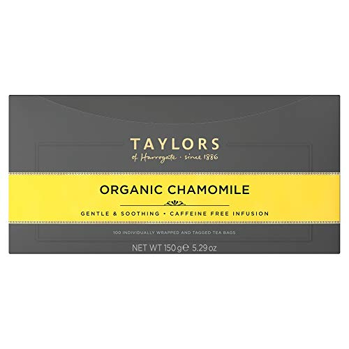 Taylors of Harrogate Organic Chamomile, 100 Tea Bags (Pack of 1, Total 100 Teabags)