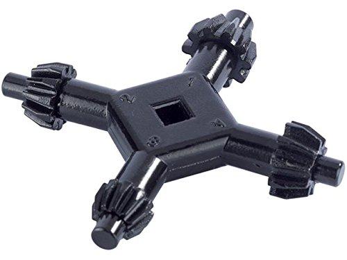 Draper 43862 Bohrfutterschlüssel für 4 Größen