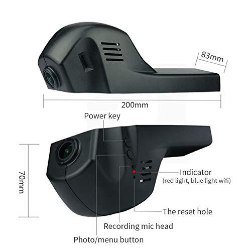 DishyKooker Professionelle versteckte Dashcam HD Nachtsicht 1080P Handy WiFi Connection Kamera für BMW