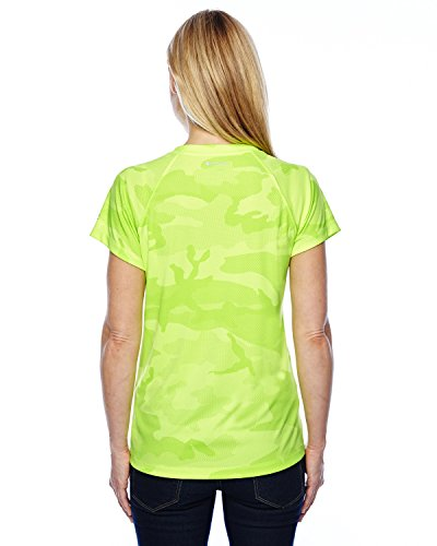Champion - T-shirt de sport - Manches Courtes - Femme - Safety Green Camo