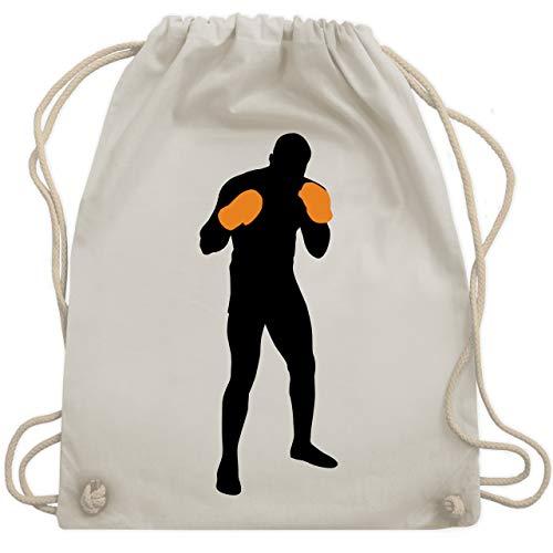 Kampfsport - Boxer Grundstellung - Unisize - Naturweiß - WM110 - Turnbeutel & Gym ()