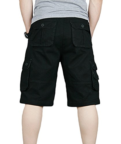 SPRAWL Herren Cargo Shorts für Sommer Schwarz