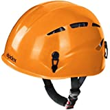 Casco de escalada universal ARGALI Casco de ferrata en modernos y variados colores de Alpidex, Farbe:sunset orange