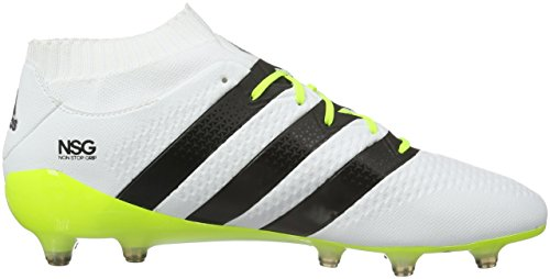 Adidas Ace 16.1 Prime, Chaussures de Football Mixte Adulte Multicolore (Knit Ftwwht/Cblack/Syello)
