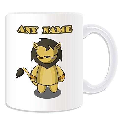 Personalisiertes Geschenk-Cowardly Lion Tasse (Märchen Design Thema, weiß)-alle Nachricht/Name auf Ihre einzigartige-Der Zauberer von Oz (Lion Oz Von Zauberer Der)