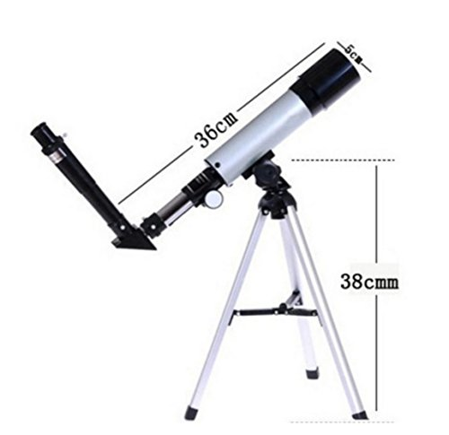 VelKro Impressive High Quality 18x - 90X Astronomical Land & Sky Telescope Optical Glass Metal Tube Refractor