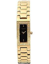 FOCE Analog Black Dial Women's & Girl's Premium Dome Glass & Crystal Studded Watch - F259LG-BLACK