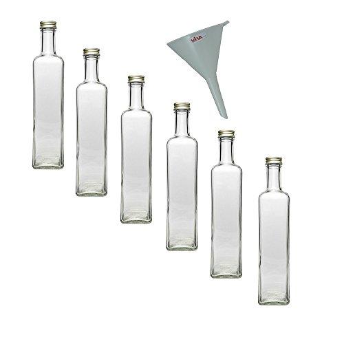 Viva-Haushaltswaren - Botellas de cristal (6 unidades, tapón de rosca