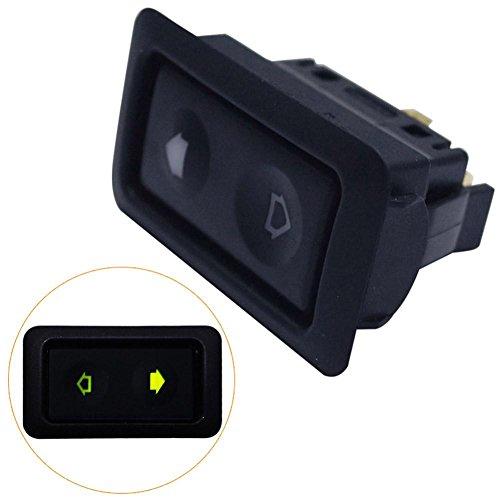 mi ji Automobile Ronde /à LED pour Bateaux Indicateur Interrupteur /à Bascule 3 Pin on-Off Pouce Commutateur 12V DC Blue Light 4pcs