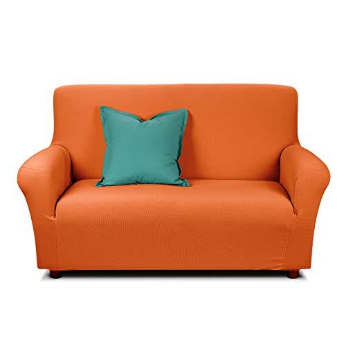Caleffi, Copridivano Magic, Tessuto Elasticizzato Adattabile, 3 posti, 220 cm (Arancione)