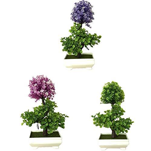PROKTH Simulieren Topfpflanze Künstliche Pachysandra Bonsai Kleine Topfpflanze Grünpflanze Home Office Desktop Dekoration