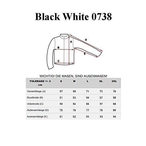 BOLF – Sweat-shirt – Manches longues – U-neck – Sport – Motif – Homme [1A1] Noir
