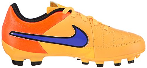 Nike  Tiempo Genio Leather FG, Chaussures de football mixte enfant Orange