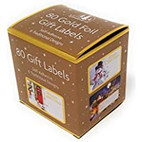 Tallon Christmas Collection Gold Foil Adhesive Label Pack of 80 labels