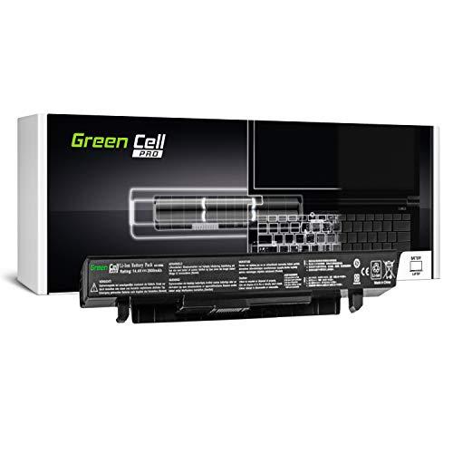 GC® PRO Serie Laptop Akku für Asus F552EA-SX196H F552EA-SX284D F552EA-SX287D F552EA-XX133D (Samsung SDI Zellen 2600mAh 14.4V Schwarz) - Pro Series Akku