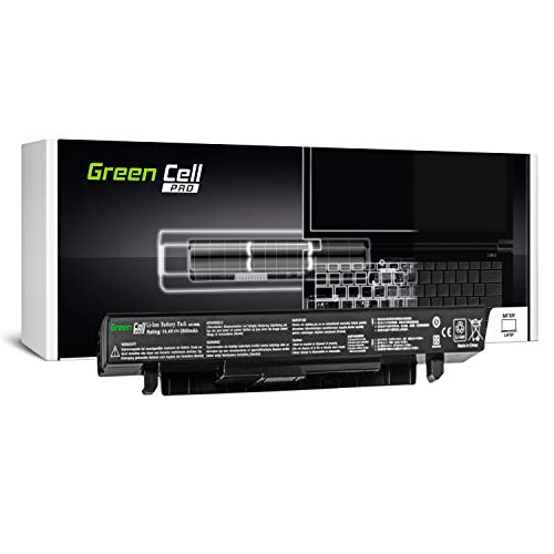 GC® PRO Serie Laptop Akku für Asus F552EA-SX196H F552EA-SX284D F552EA-SX287D F552EA-XX133D (Samsung SDI Zellen 2600mAh 14.4V Schwarz) -
