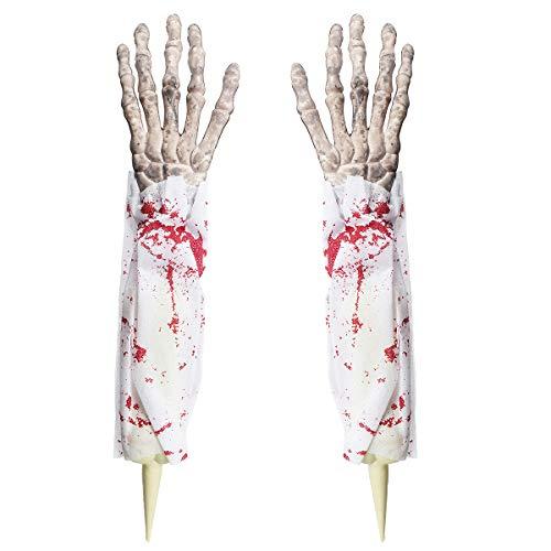 alloween Prop Horror Blutige Skelett Hand Finger Heim Garten Hof Rasen Bar Party Dekoration ()