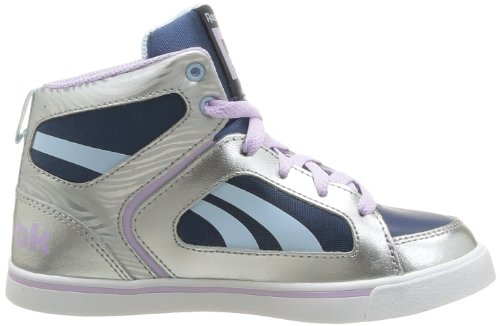 Reebok Ksee You Mid, Baskets mode fille Argent (Silver/Dreamyblue)