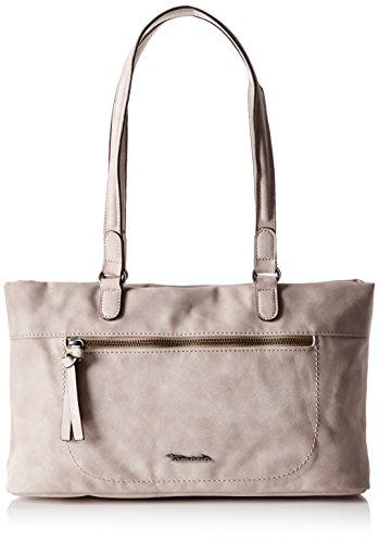 Tamaris Damen Twiggy Shoulder Bag Schultertasche, Grau/Beige , One Size