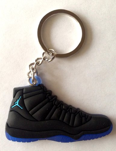 air-jordan-xi-11-gamma-blue-black-blue-chicago-bulls-sneakers-shoes-keychain-keyring-aj-23-retro-by-