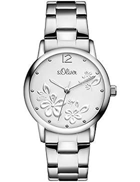 s.Oliver Damen-Armbanduhr Analog Quarz Edelstahl SO-3139-MQ