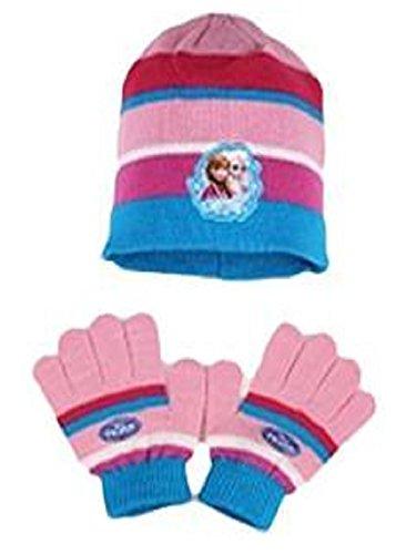 Offizielle Mädchen Gefrorene Handschuhe & Beanie Hat Set Alter 4-10 Jahre (Gefroren Hats)